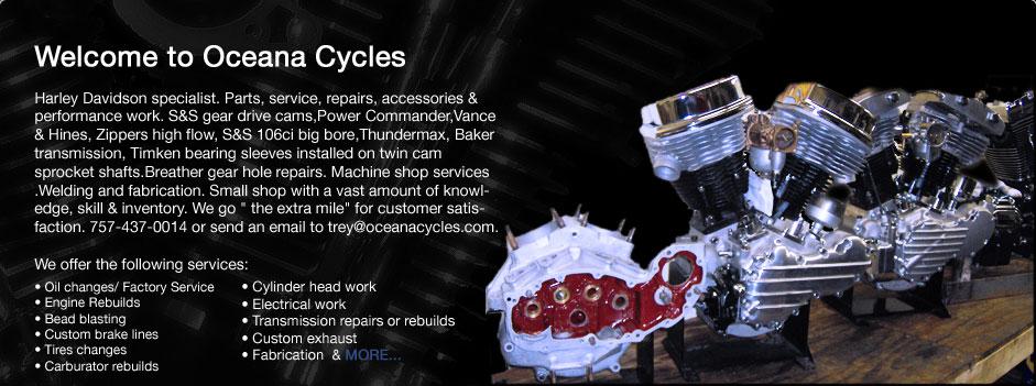 Oceana Cycles - Harley Davidson, Triumph, BSA and Norton Motorcycle